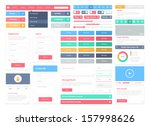 flat user interface vector set... | Shutterstock .eps vector #157998626