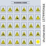 warning signs vector... | Shutterstock .eps vector #1579995466