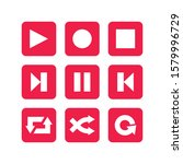 media player design with red...