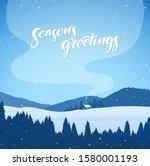 vector illustration  winter... | Shutterstock .eps vector #1580001193
