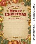 vintage merry christmas... | Shutterstock .eps vector #1580022259