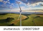 Aerial View Of Wind Turbine...