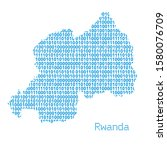 map of rwanda from binary code... | Shutterstock .eps vector #1580076709