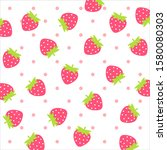 fruit pattern.cute fresh... | Shutterstock .eps vector #1580080303
