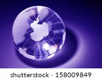 earth planet blue globe for... | Shutterstock . vector #158009849