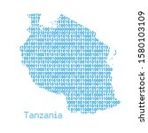 map of tanzania from binary... | Shutterstock .eps vector #1580103109