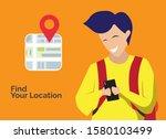 vector illustration of a man... | Shutterstock .eps vector #1580103499