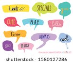 hand drawn set of colorful... | Shutterstock .eps vector #1580127286