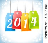happy new year greetings card...   Shutterstock .eps vector #158014100