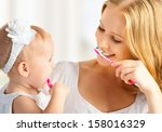happy family and health. mother ... | Shutterstock . vector #158016329