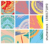 abstract collage asymmetric... | Shutterstock .eps vector #1580171893