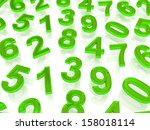 background of numbers. from... | Shutterstock . vector #158018114