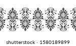 embroidery ikat pattern etnic... | Shutterstock .eps vector #1580189899