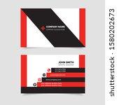 corporate modern business card... | Shutterstock .eps vector #1580202673