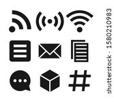 solid business feed icon set...