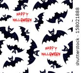 halloween bat   seamless... | Shutterstock .eps vector #158021888