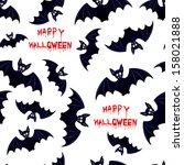 halloween bat   seamless... | Shutterstock .eps vector #158021888