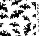 bat   seamless background | Shutterstock .eps vector #158021900