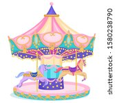 Horse Merry Go Round Carnival...