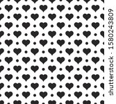 black hearts vector shapes on a ... | Shutterstock .eps vector #1580243809