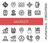 set of marker icons. such as... | Shutterstock .eps vector #1580249866