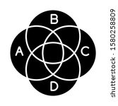 venn diagram glyph icon. round... | Shutterstock .eps vector #1580258809