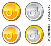 coins with male sign