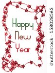 christmas frame with happy new... | Shutterstock . vector #158028563