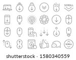 scroll down line icons.... | Shutterstock .eps vector #1580340559