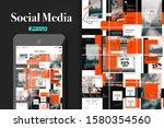 social media puzzle template... | Shutterstock .eps vector #1580354560