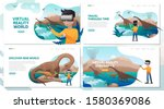 set of virtual reality... | Shutterstock .eps vector #1580369086