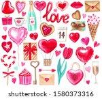 big watercolor set for...   Shutterstock . vector #1580373316