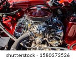 Red Classic Muscle Car Under...