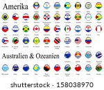 american and oceania flags | Shutterstock . vector #158038970