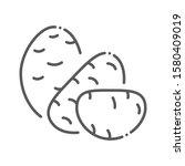 potato black line icon. natural ...