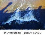 Foamy Stream Of River Water....