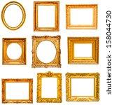 set of golden vintage frame... | Shutterstock . vector #158044730