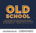 old retro font effect with bold ... | Shutterstock .eps vector #1580454850