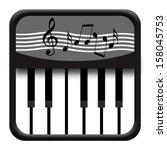piano | Shutterstock . vector #158045753
