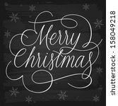 merry christmas greetings... | Shutterstock .eps vector #158049218