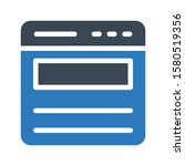 web vector glyph color icon