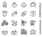 Baby  Feeding And Care Icons...