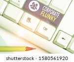 Small photo of Word writing text Corporate Flunky. Business concept for someone who works obediently for another demonstrating in company.