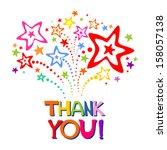 Thank You Card. Vector...