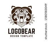 bear logo   vector illustration ... | Shutterstock .eps vector #1580583049