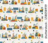 industrial factory buildings...   Shutterstock .eps vector #158058959