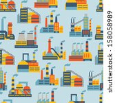 industrial factory buildings... | Shutterstock .eps vector #158058989