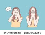 emotional reaction  amazement... | Shutterstock .eps vector #1580603359