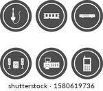 6 icon set of electronic...