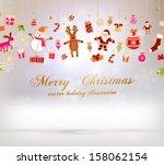 Christmas Set Of Icons And...